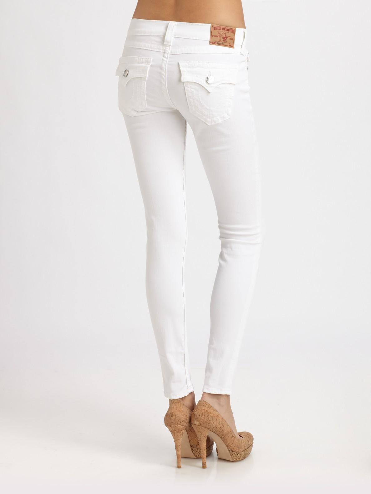 True religion Serena Skinny Leg Jeans in White | Lyst