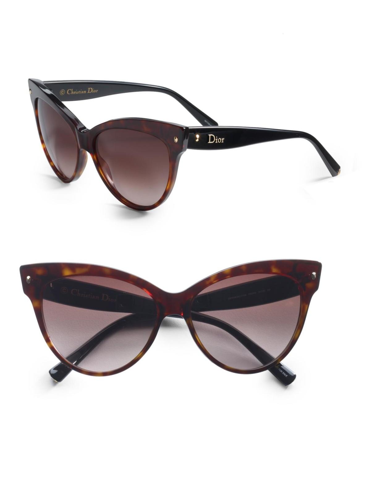 2c60baa3cd Dior Cateye Sunglasses in Brown - Lyst
