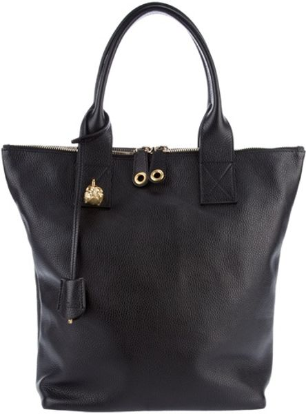 Alexander Mcqueen Leather North-south Skull Shopper in Black