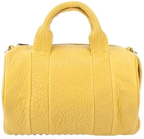 Alexander Wang Rocco Studded Bag in Yellow - Lyst