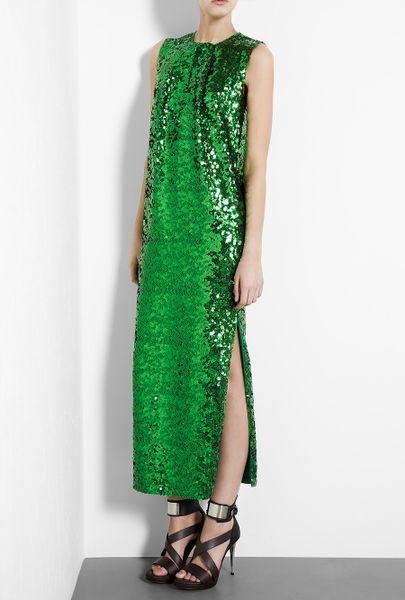 By Malene Birger Emerald Green Amukaji Sequin Maxi Dress in Green (emerald)