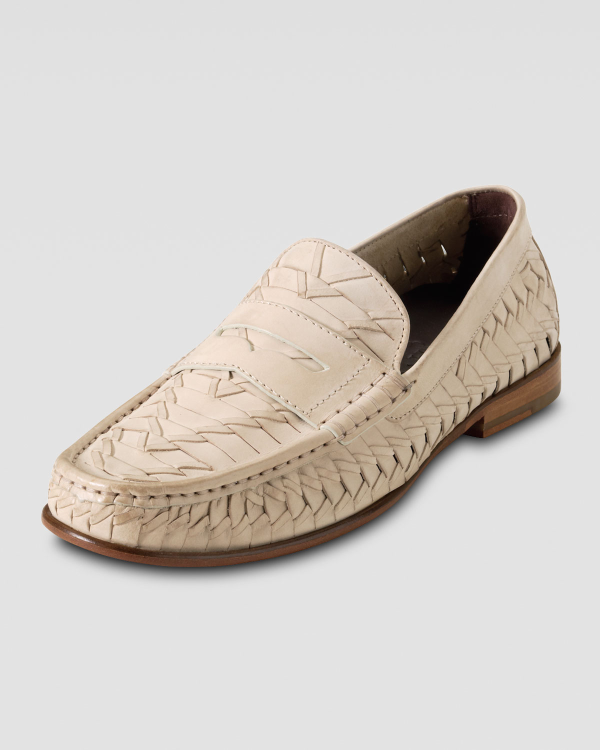 9c918e37865 Lyst - Cole Haan Air Tremont Woven Penny Loafer in Natural for Men