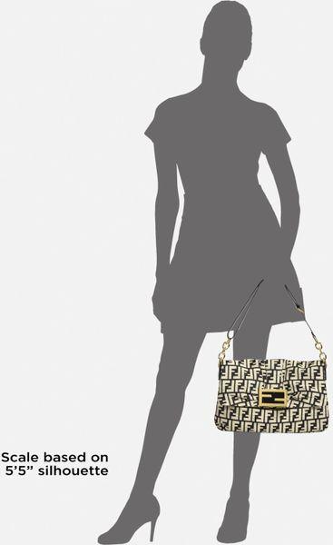 Fendi Borsa Mia Zucca Canvas Shoulder Bag 77