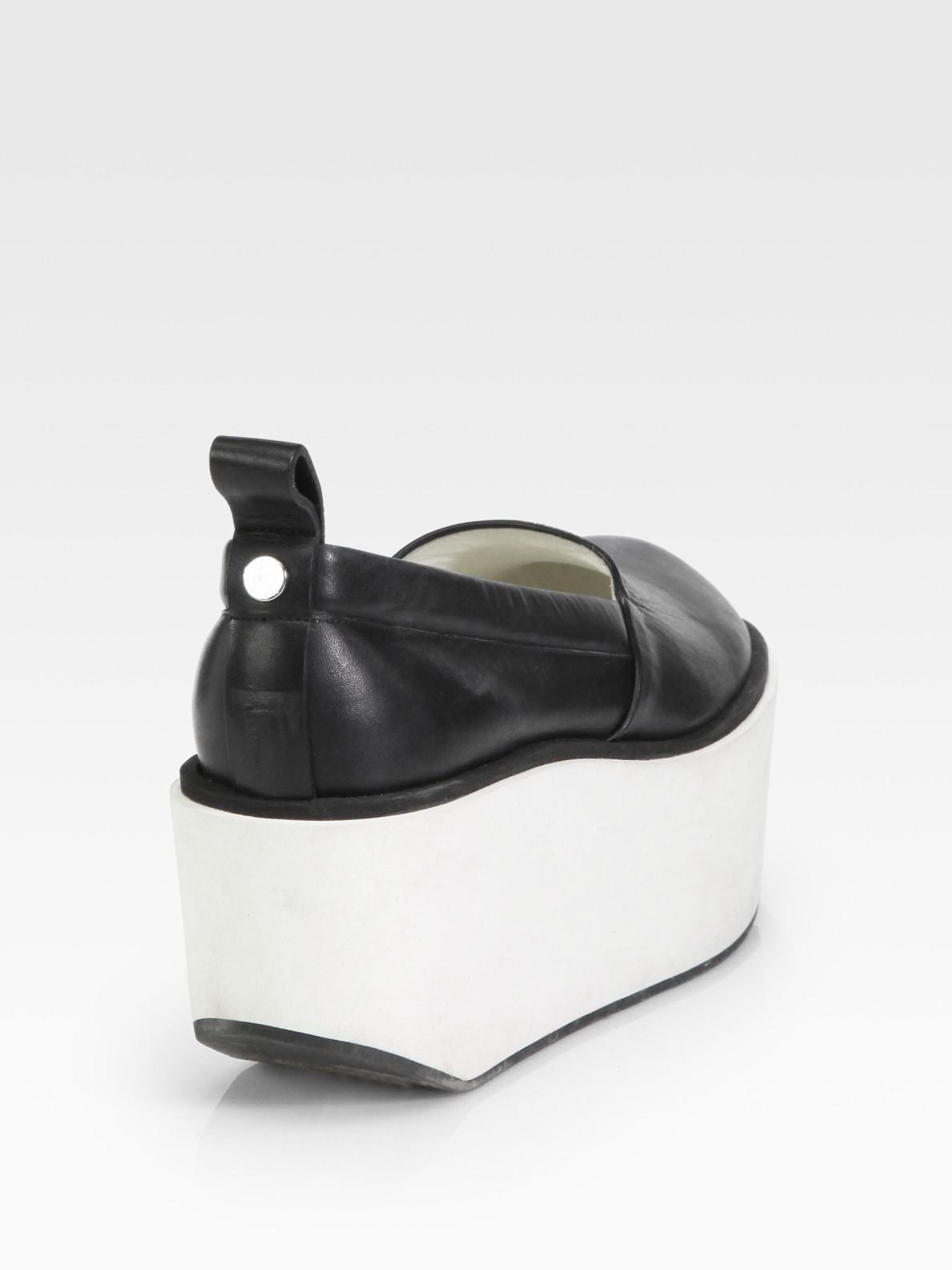 f36b072da19 Lyst - Jil Sander Navy Leather Platform Shoes in Black