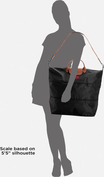 Longchamp Personalized Le Pliage Expandable Duffel In Brown Black Lyst