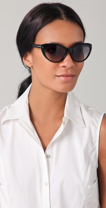 lyst tom ford martina cat eye sunglasses in black. Black Bedroom Furniture Sets. Home Design Ideas