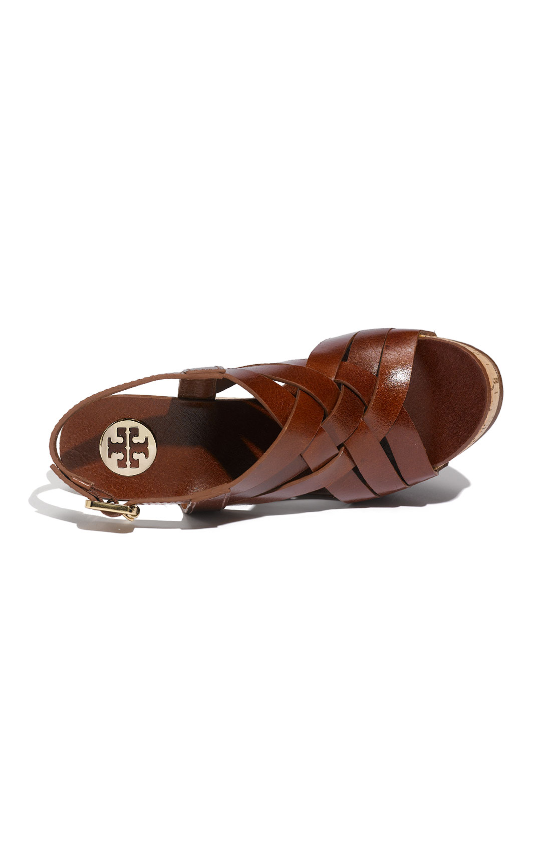 530861039090 Lyst - Tory Burch Ace Wedge Sandal in Brown