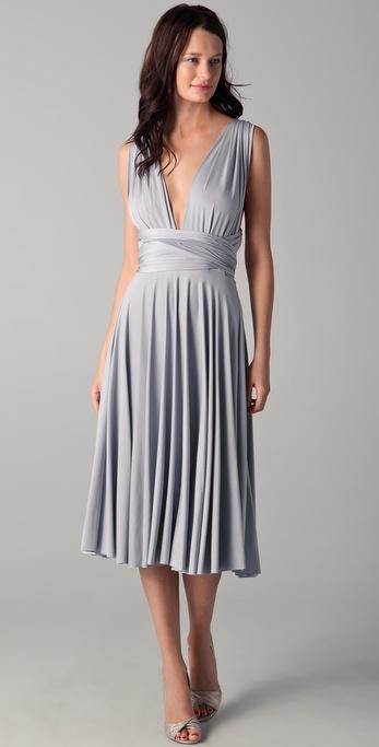 Twobirds Tea Length Convertible Dress In Gray Lyst