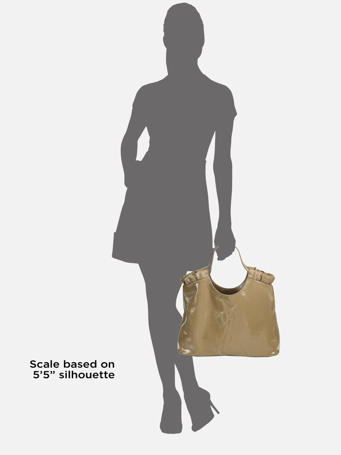 5fc16ab7a6 Lyst - Saint Laurent Ysl Belle De Jour Medium Patent Leather ...