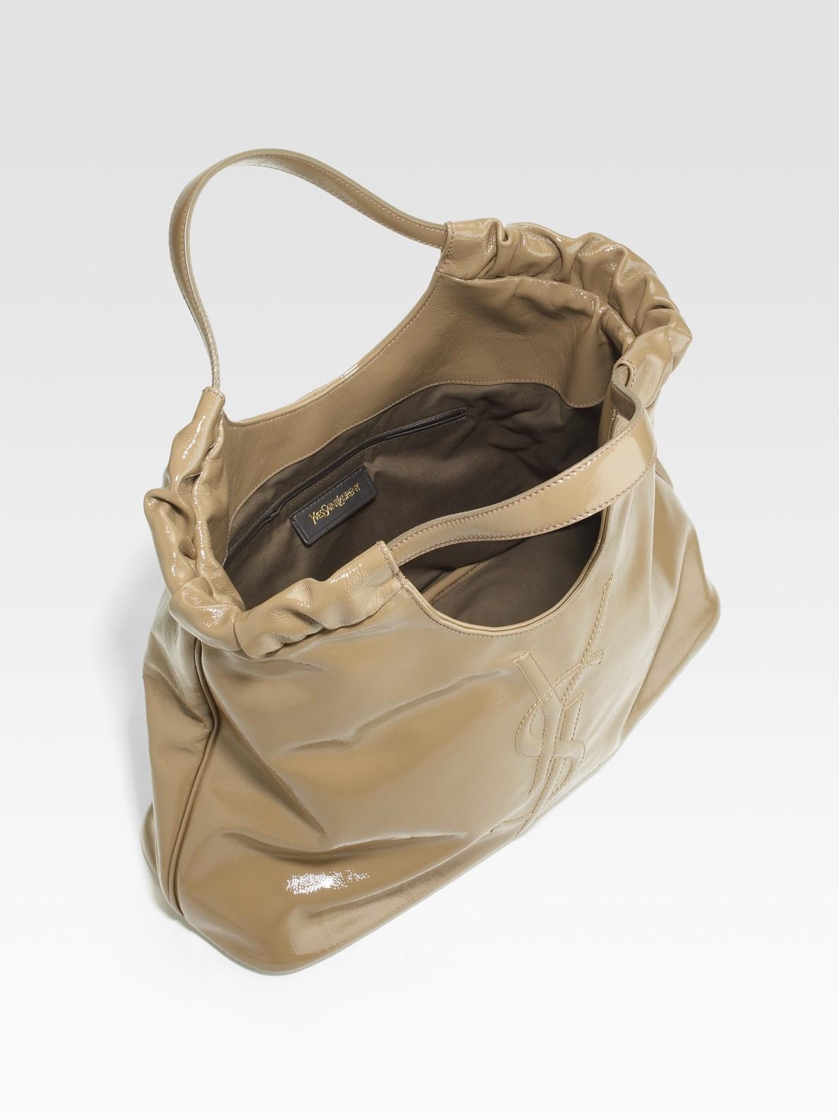 Saint laurent Ysl Belle De Jour Medium Patent Leather Shopping Bag ...