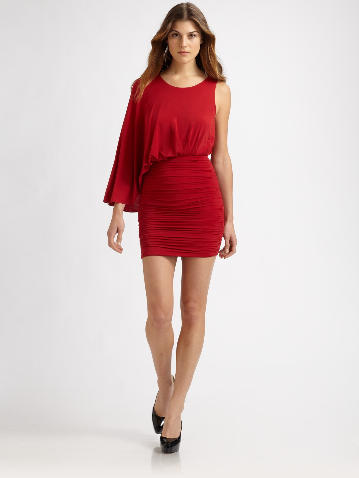 ee31d82bb71 Lyst - BCBGMAXAZRIA Venus Dress in Red