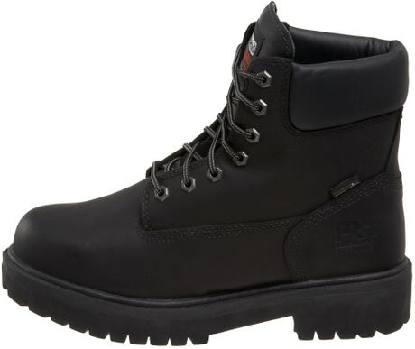 timberland mens direct attach 6 steel toe boot in black