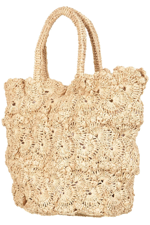 Topshop Crochet Shopper Bag in Natural   Lyst