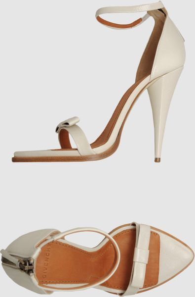 Givenchy High Heeled Sandals In White Lyst