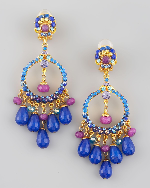 Lyst jose maria barrera multicolor filigree chandelier earrings gallery arubaitofo Images