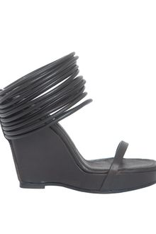 Rick Owens Ringed Ankle-wrap Wedge Sandal - Lyst