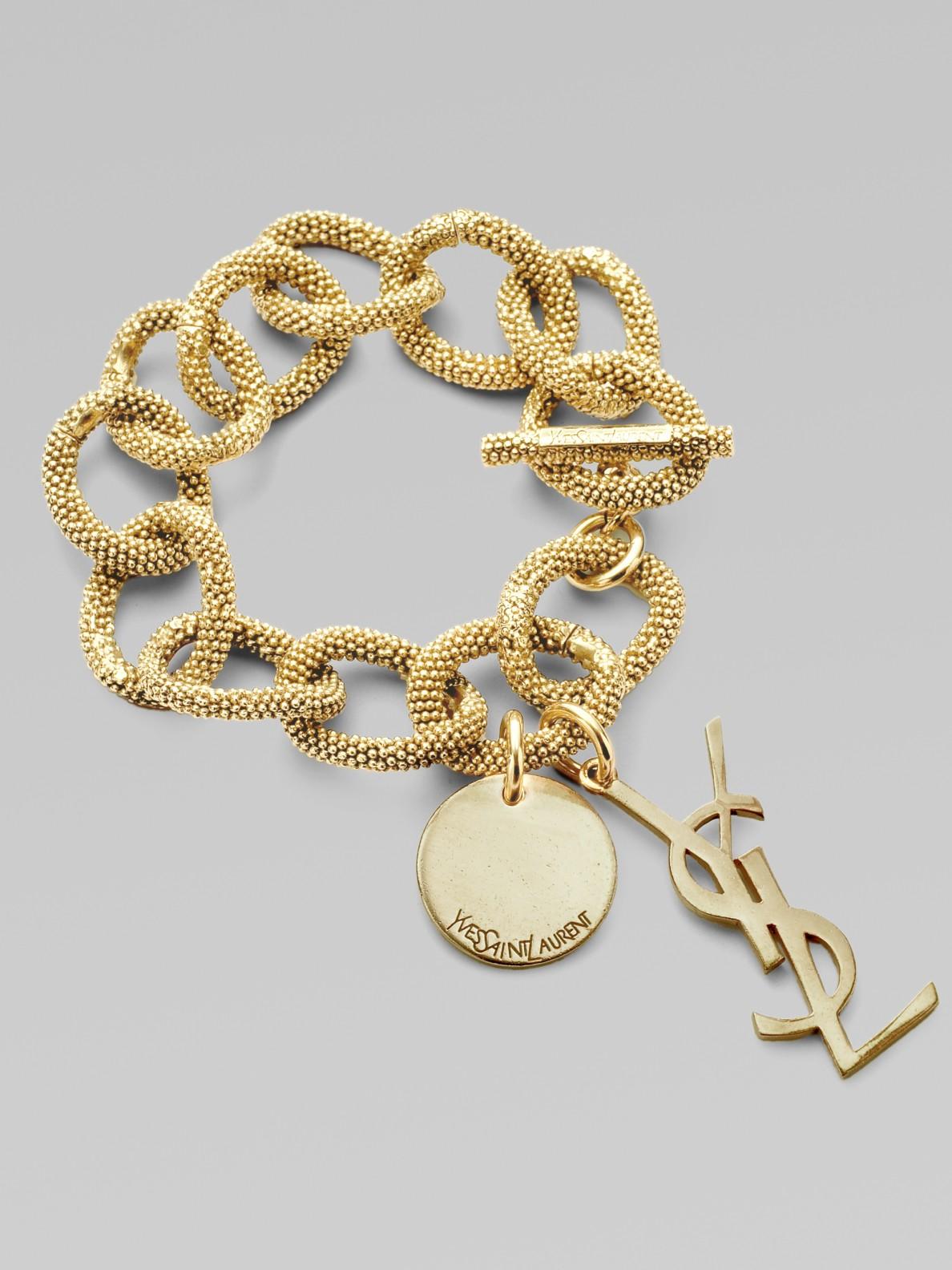 Image result for Link Bracelet in Rose yves saint laurent