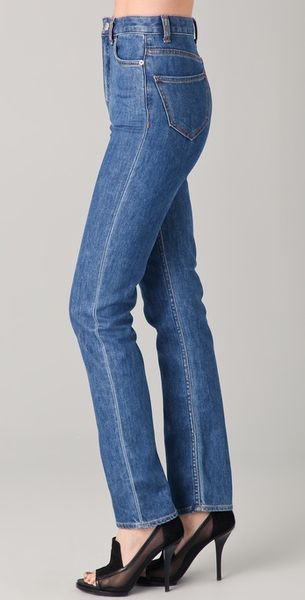 Men High Waisted Jeans