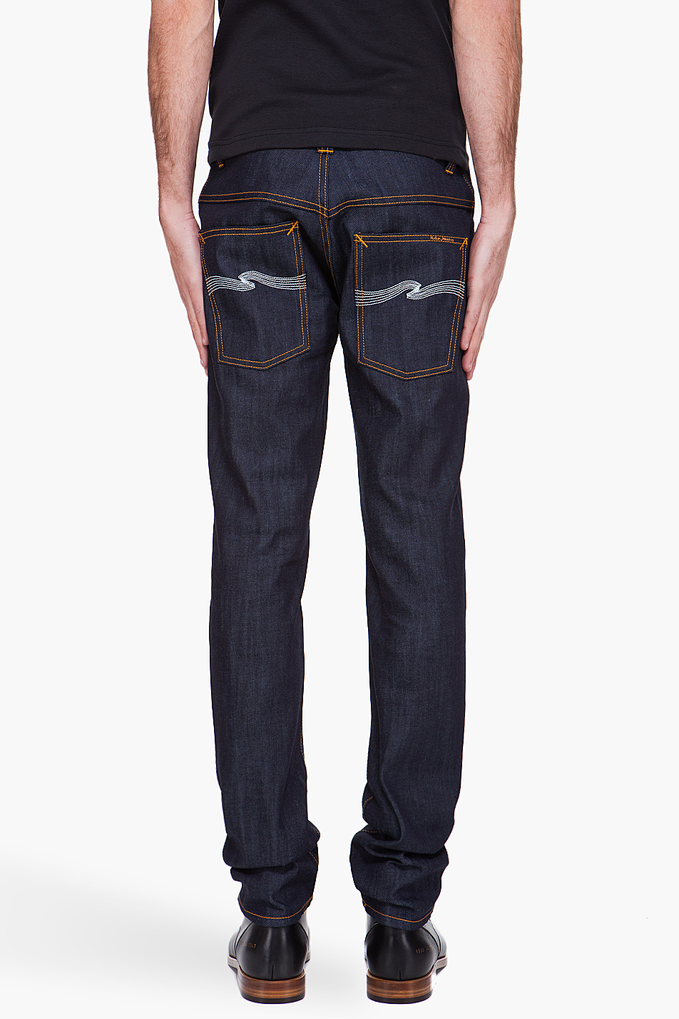 nudie jeans thin finn organic jeans in blue for men lyst. Black Bedroom Furniture Sets. Home Design Ideas