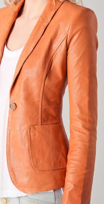Rachel Zoe Sullivan Ii Leather Suit Jacket In Brown Lyst