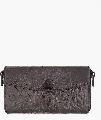 Black Trigone Compact Wallet