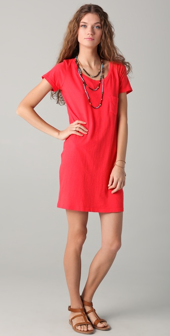C&ampc california T-shirt Dress in Red  Lyst