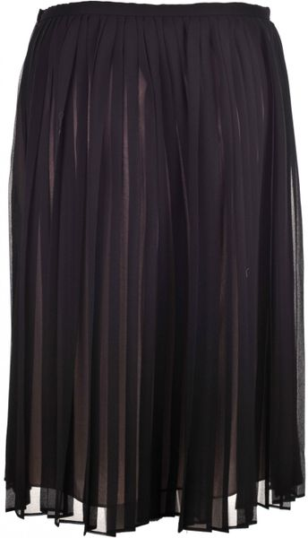 hoss intropia black chiffon pleated skirt in black lyst