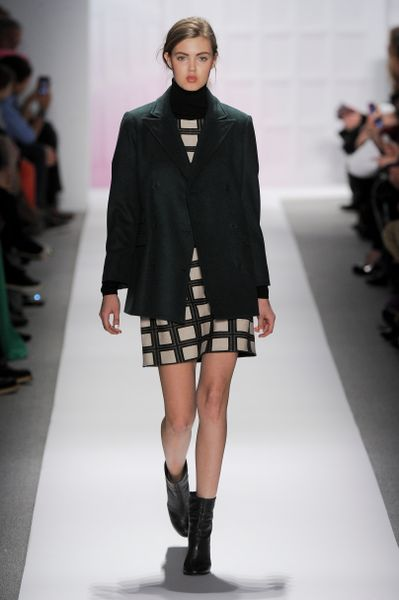 Tibi Fall 2012 DoubleBreasted Oversized Jacket In Dark Grey in Gray - Lyst