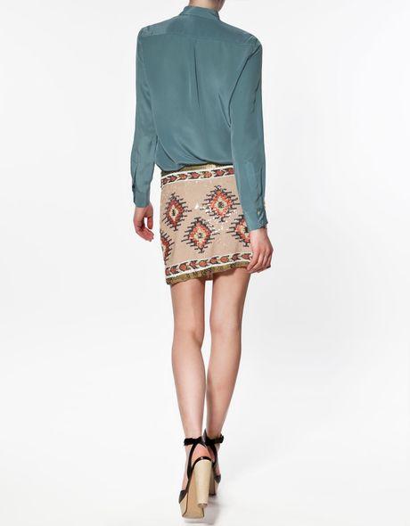 Zara Blue Silk Blouse 53