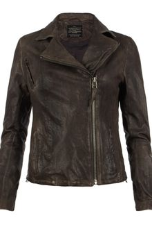 AllSaints Strabler Leather Biker Jacket - Lyst