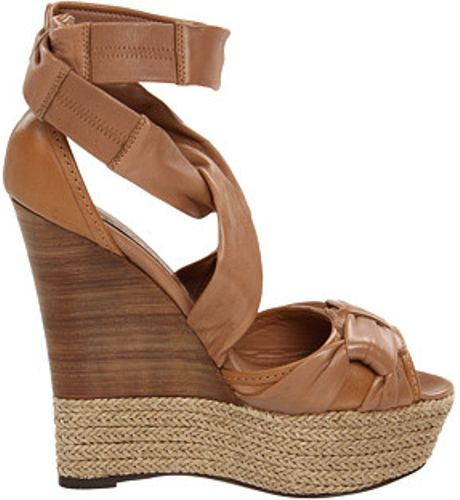 Burberry Aumale Rope Wedge Sandals In Brown T Lyst