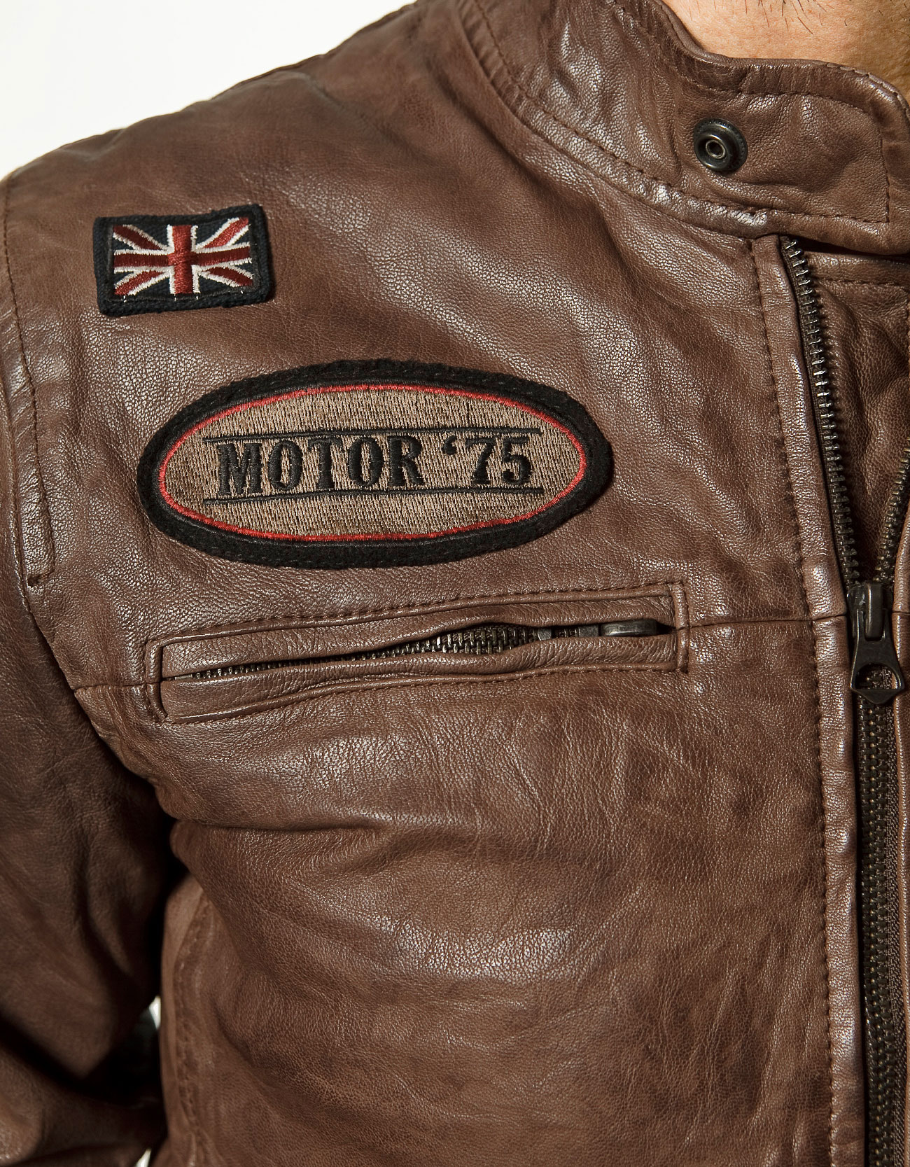 Leather jacket patches - Gallery Men S Acne Drifter Men S Embroidered Leather Jackets
