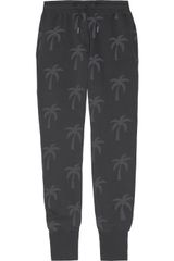 Zoe Karssen Palm Tree-print Cotton-blend Fleece Track Pants