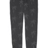 Zoe Karssen Palm Treeprint Cottonblend Fleece Track Pants in Gray (charcoal) - Lyst
