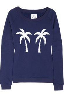 Zoe Karssen Palm Tree Printed Cotton-blend Sweatshirt - Lyst
