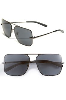 Burberry Square Metal Aviator Sunglasses - Lyst