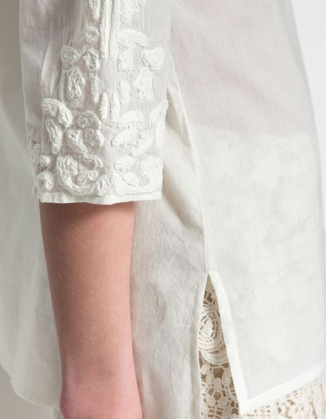 Zara Combined Embroidered Blouse 106