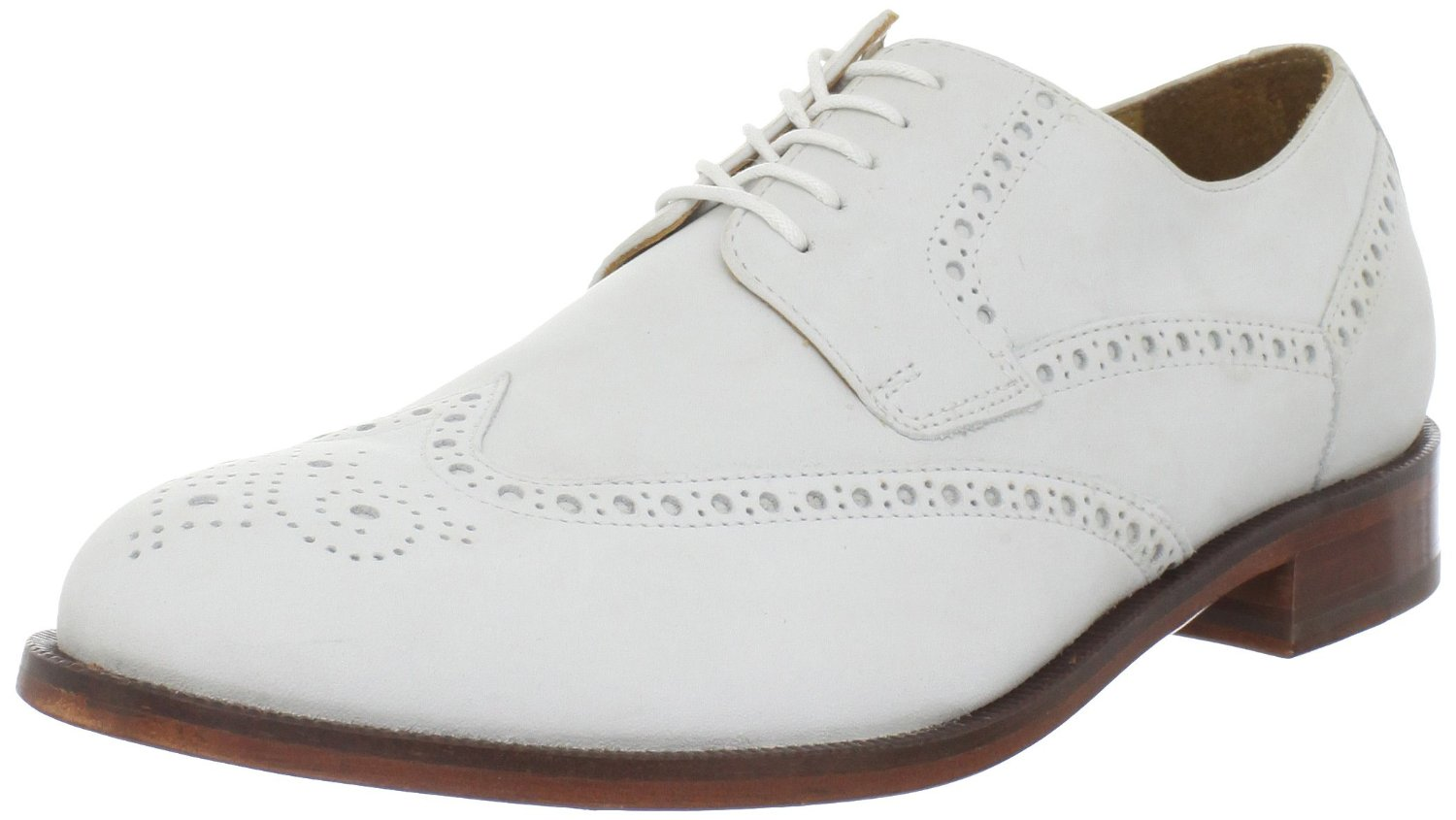 cole haan mens wing tip oxford in white for
