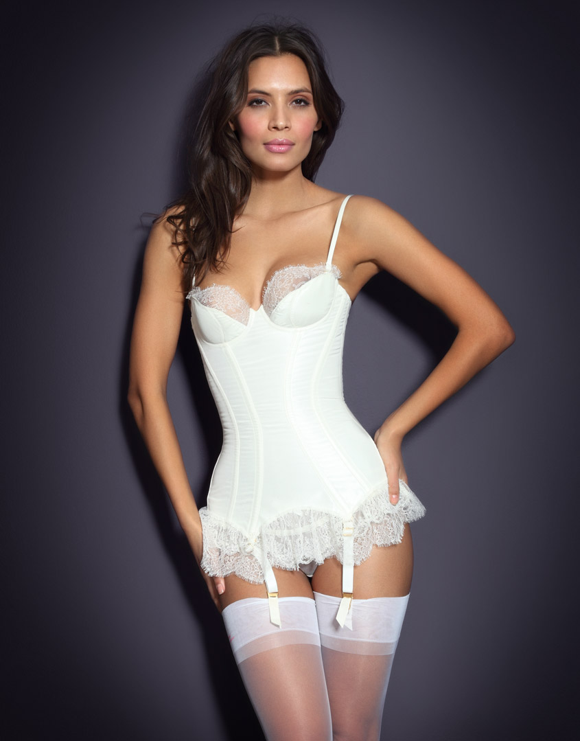 Agent Provocateur Honesty Corset In White Ivory Lyst