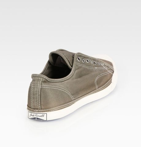 converse purcell laceless canvas sneakers in green