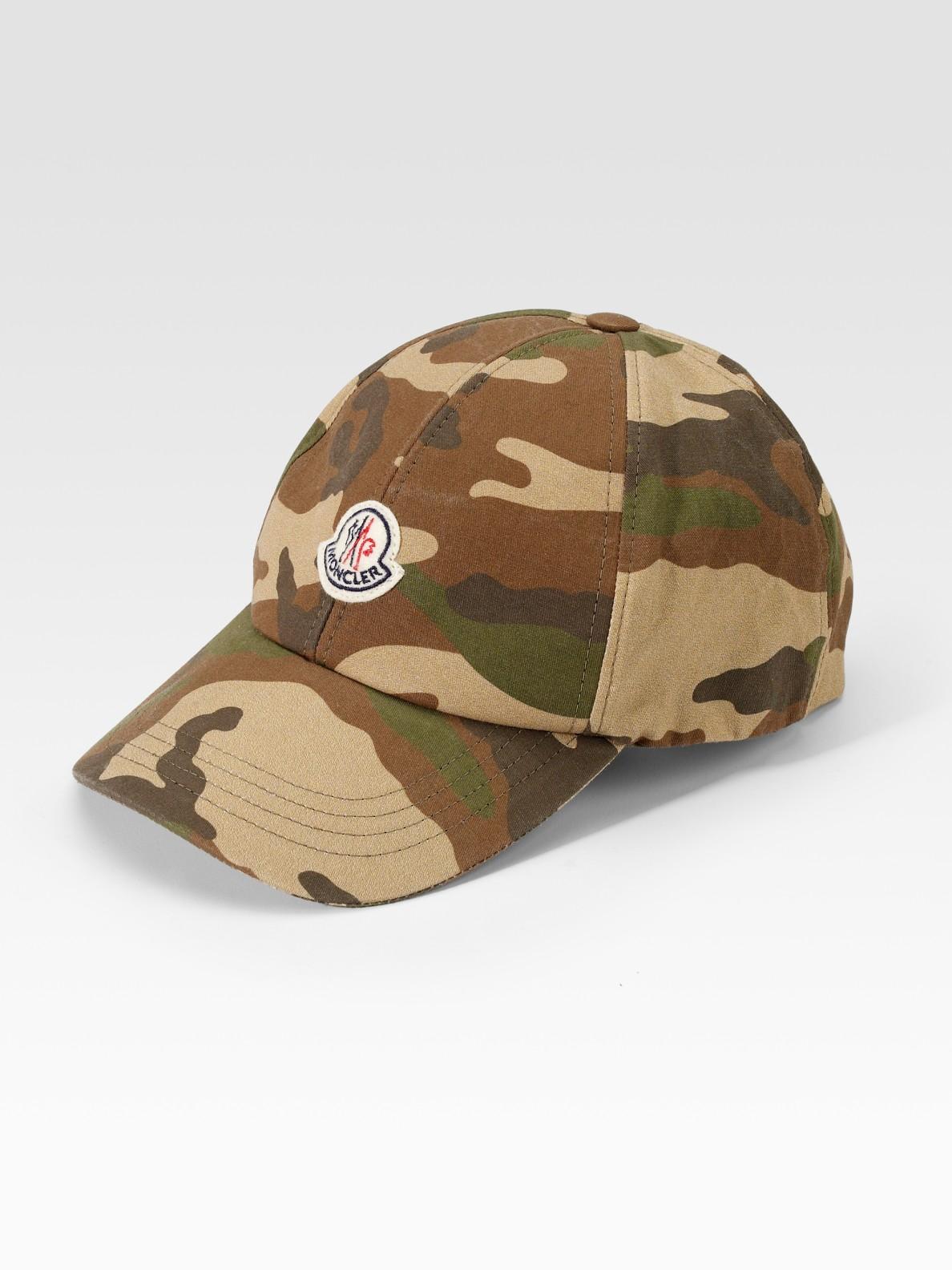 Lyst - Moncler Camo Baseball Hat in Green for Men 221a3e80498
