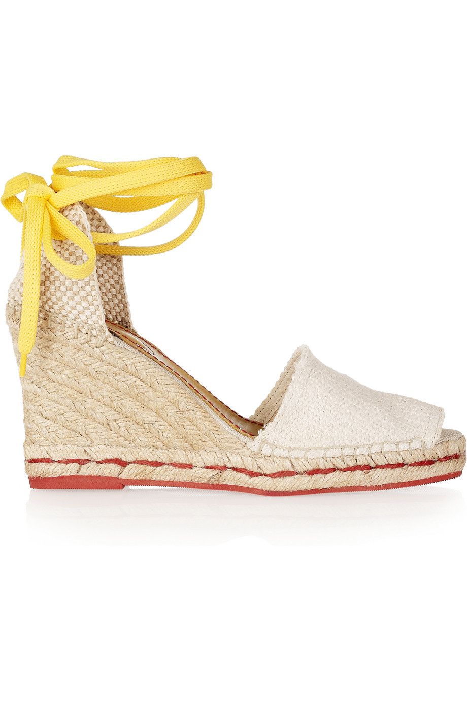 See By Chlo 233 Woven Canvas Wedge Espadrilles In White Lyst