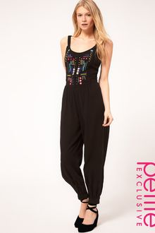 ASOS Collection Petite Exclusive Mex Tex Jumpsuit - Lyst