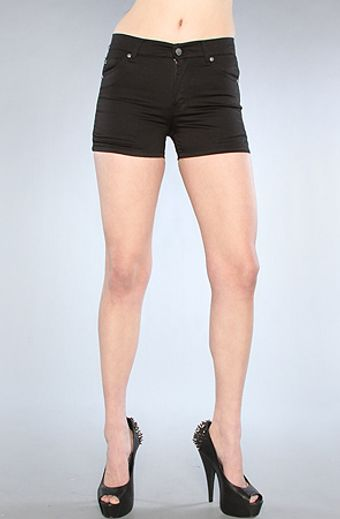 Cheap Monday The Spring Jean Short in Satin Washed Black - Lyst