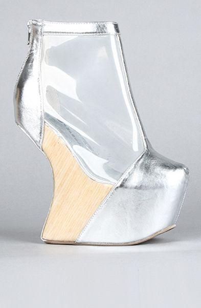Jeffrey Campbell The Moon Walk Shoe  in Silver