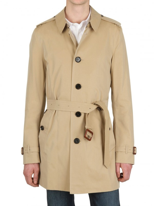 20f2d2c301fb Lyst - Burberry Single Breasted Cotton Trench Coat in Natural for Men