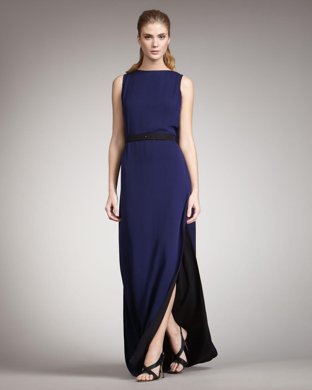 Halston colorblocked dress