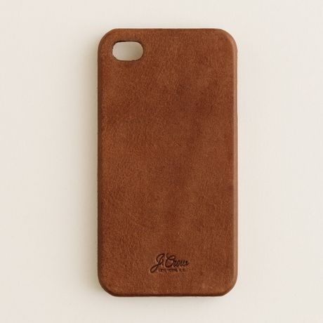 leather iphone 4 case in brown for men brown