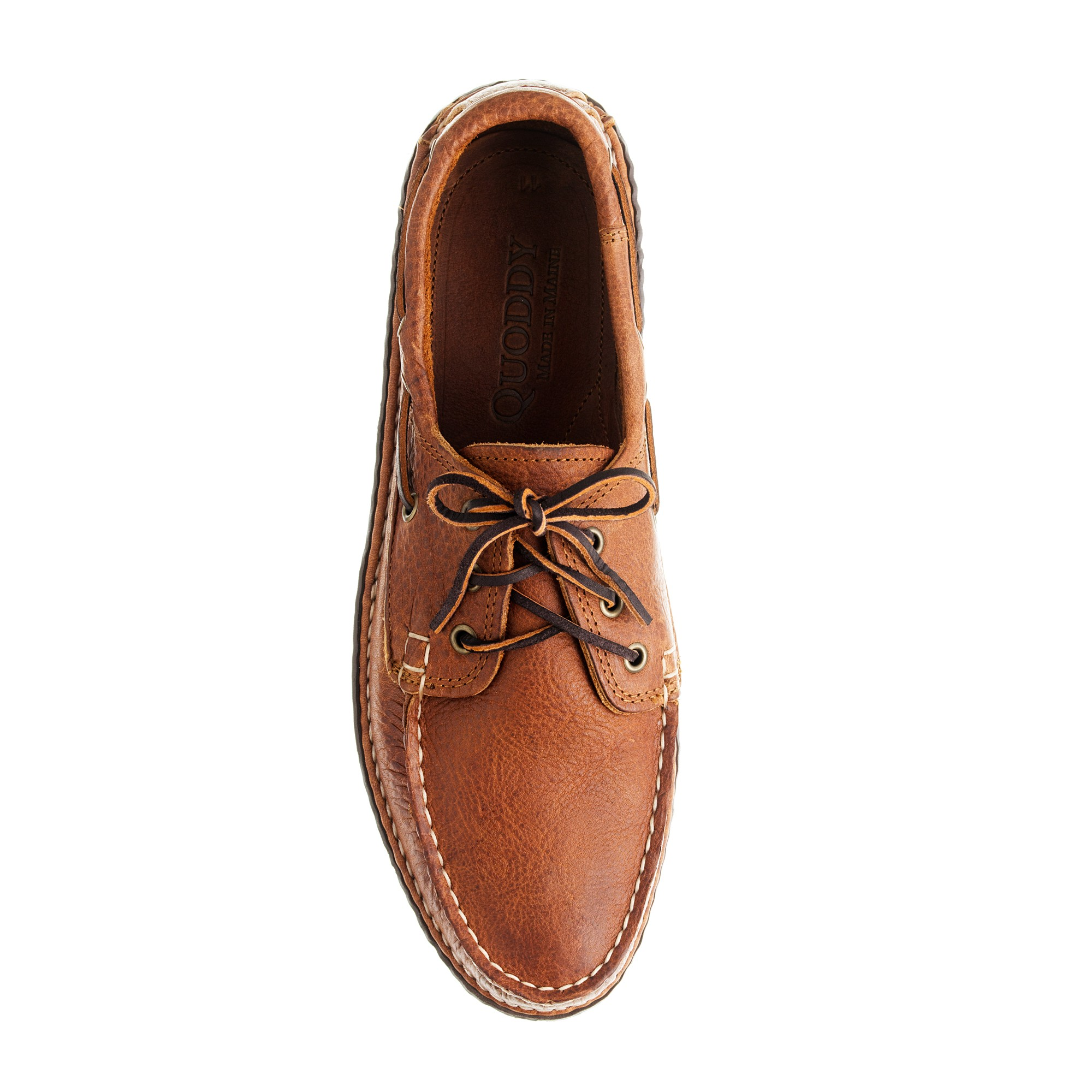 j crew mens quoddy 174 grizzly leather boat moccasins in