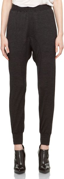 Neil Barrett Jersey Pant in Charcoal Mel in Black (charcoal mel) - Lyst